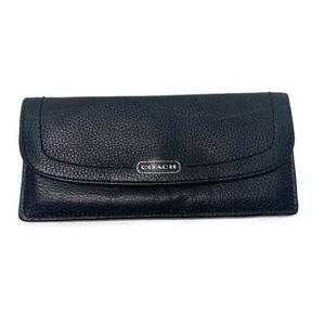 Coach Legacy Slim Black Soft Patent Leather Wallet